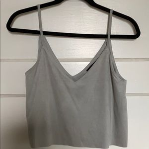 F21 Suede Cropped Tank